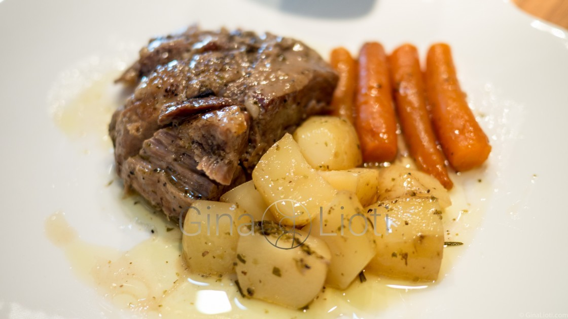 Slow roasted lamb with lemon, potatoes and carrots recipe ...